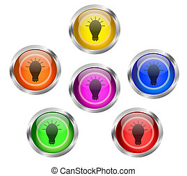 Bulb Icon Button
