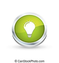 Bulb icon, button