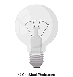Bulb icon, cartoon style