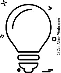 Bulb icon design vector