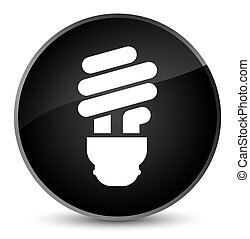 Bulb icon elegant black round button