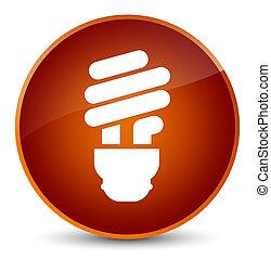 Bulb icon elegant brown round button