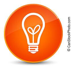 Bulb icon elegant orange round button