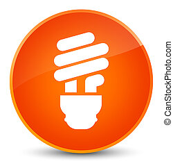 Bulb icon elegant orange round button