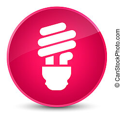 Bulb icon elegant pink round button