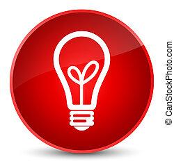 Bulb icon elegant red round button