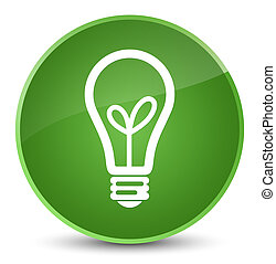 Bulb icon elegant soft green round button