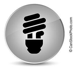 Bulb icon elegant white round button