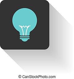 Bulb icon flat design vector.