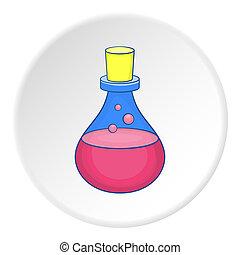 Bulb icon, flat style