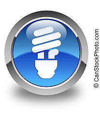 Bulb icon glossy blue round button 2