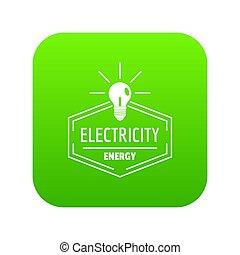 Bulb icon green