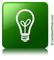 Bulb icon green square button