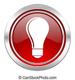 bulb icon, idea sign