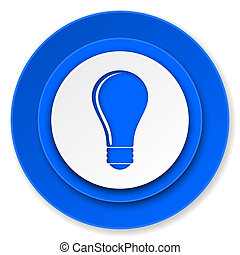 bulb icon, idea sign