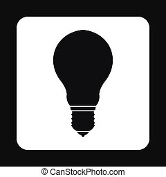 Bulb icon in simple style
