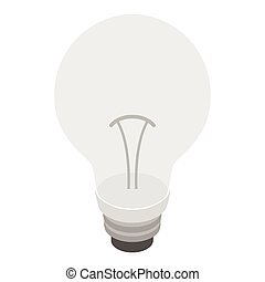 Bulb icon, isometric 3d style