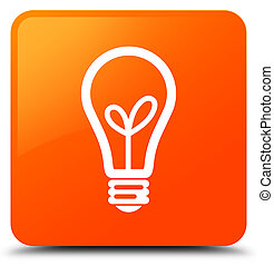 Bulb icon orange square button