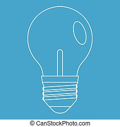 Bulb icon, outline style