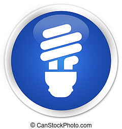 Bulb icon premium blue round button