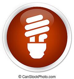 Bulb icon premium brown round button