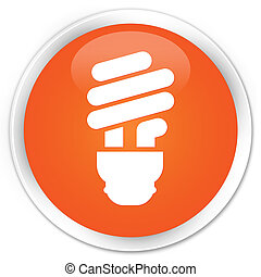 Bulb icon premium orange round button