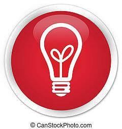 Bulb icon premium red round button