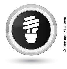 Bulb icon prime black round button