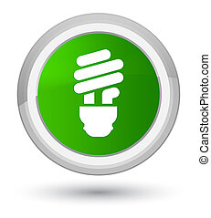 Bulb icon prime green round button