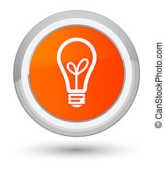 Bulb icon prime orange round button