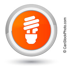 Bulb icon prime orange round button