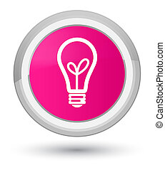 Bulb icon prime pink round button