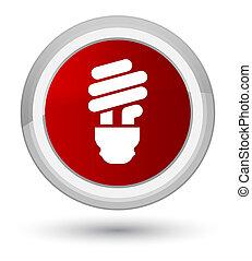 Bulb icon prime red round button