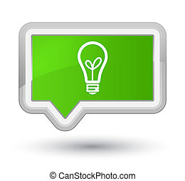 Bulb icon prime soft green banner button