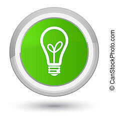 Bulb icon prime soft green round button