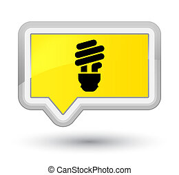 Bulb icon prime yellow banner button