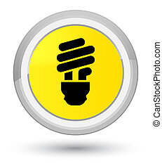 Bulb icon prime yellow round button