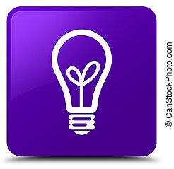 Bulb icon purple square button
