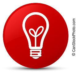 Bulb icon red round button