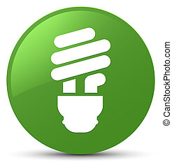 Bulb icon soft green round button