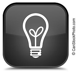Bulb icon special black square button
