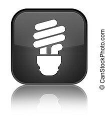 Bulb icon special black square button