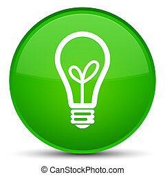 Bulb icon special green round button