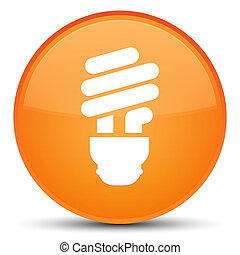 Bulb icon special orange round button