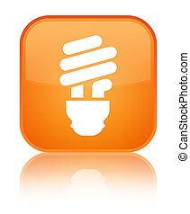Bulb icon special orange square button