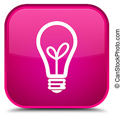 Bulb icon special pink square button