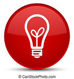 Bulb icon special red round button