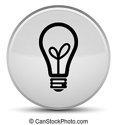 Bulb icon special white round button
