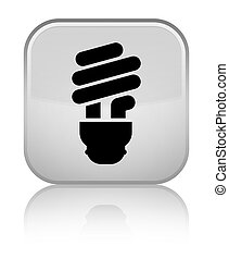 Bulb icon special white square button