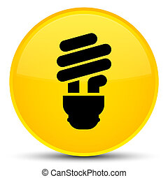 Bulb icon special yellow round button